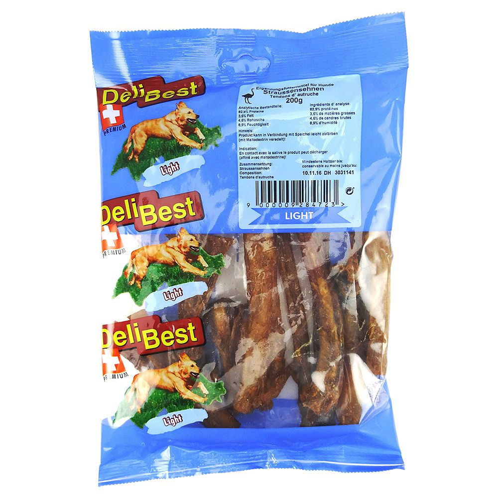 DeliBest Light Ostrich Tendons - Saver Pack: 2 x 200g