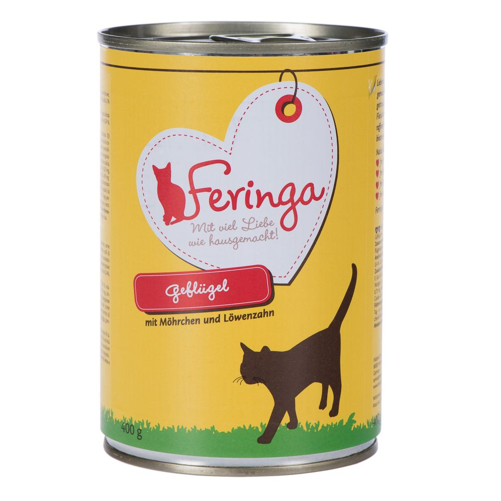 400g Feringa Menu Duo - 5 + 1 Free!* - Beef & Poultry with Potatoes & Catnip (6 x 400g)