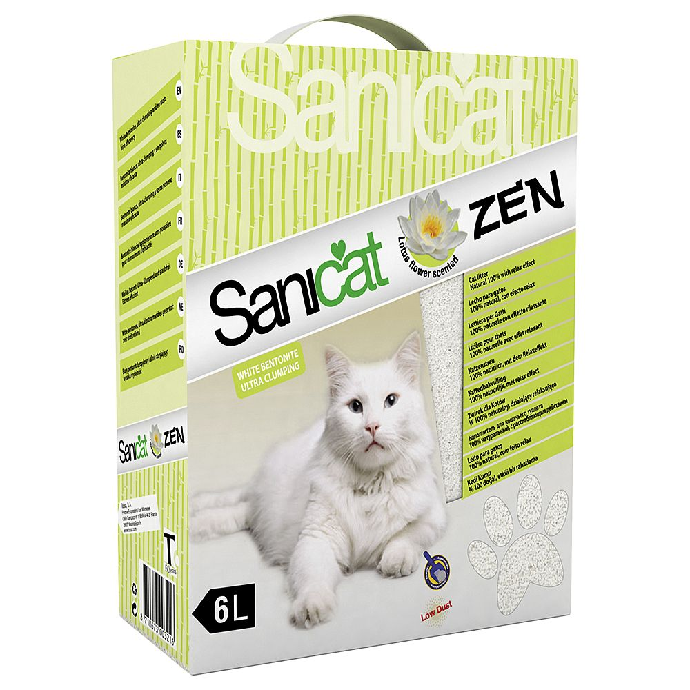 6l Sanicat Zen Clumping Cat Litter