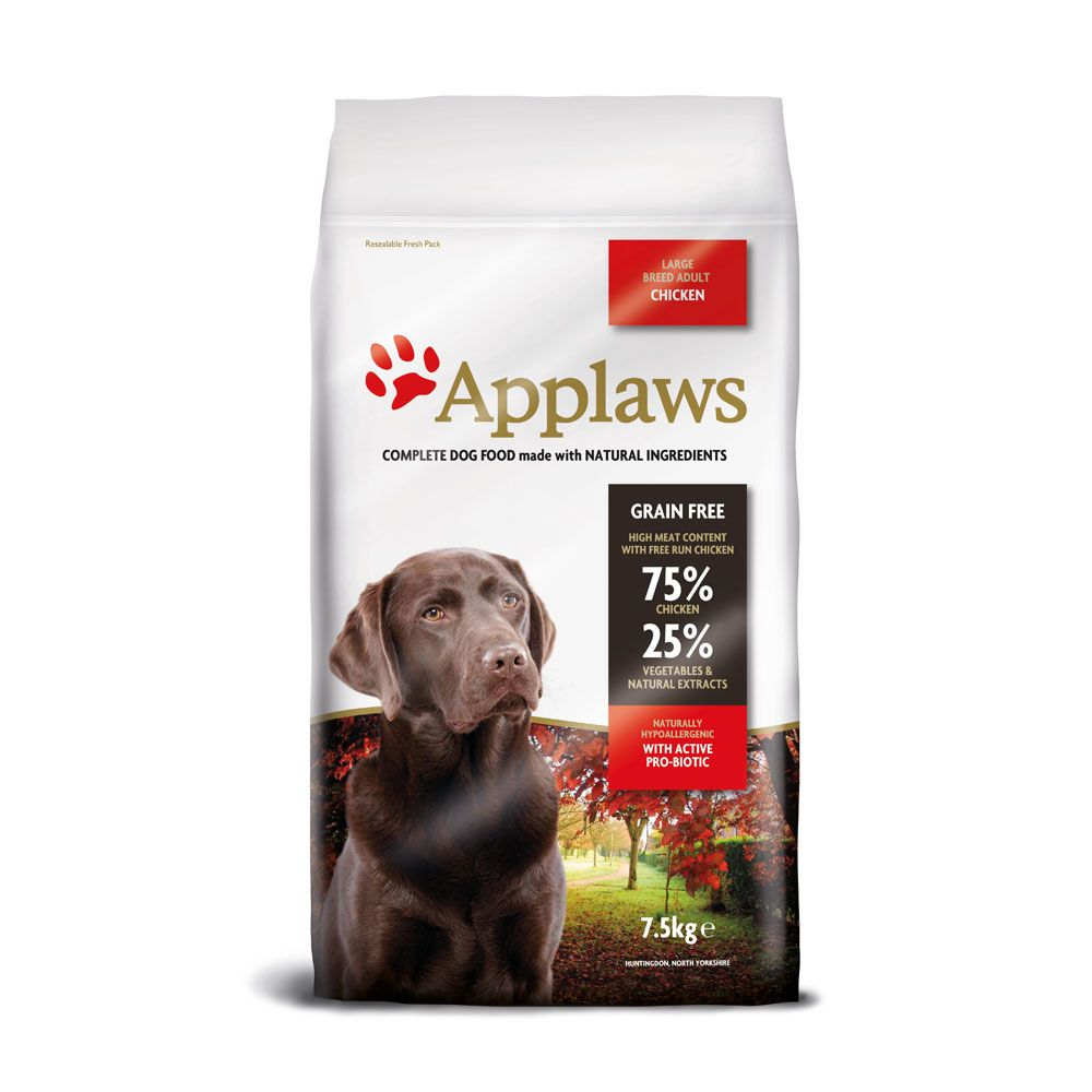 7.5kg Applaws Adult Large Breed Chicken Dry Dog Food