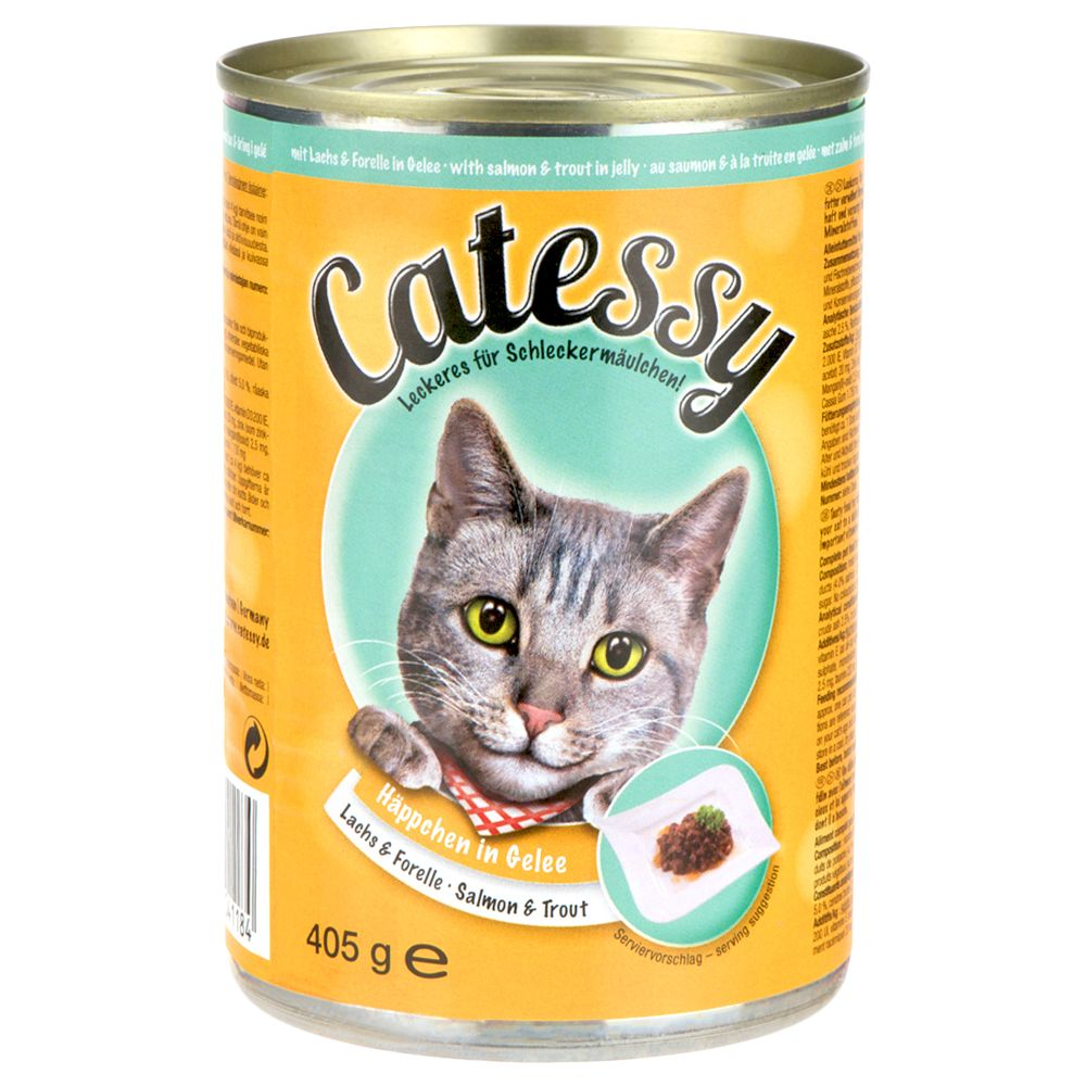 Catessy Bites in Jelly Mega Pack 48 x 405g - Mixed Pack