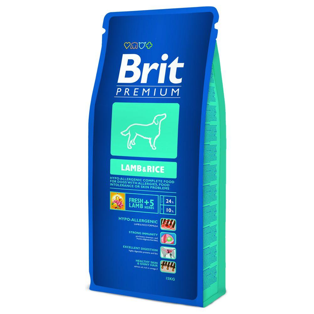 Brit Premium, Jagnięcina i ryż - 15 kg