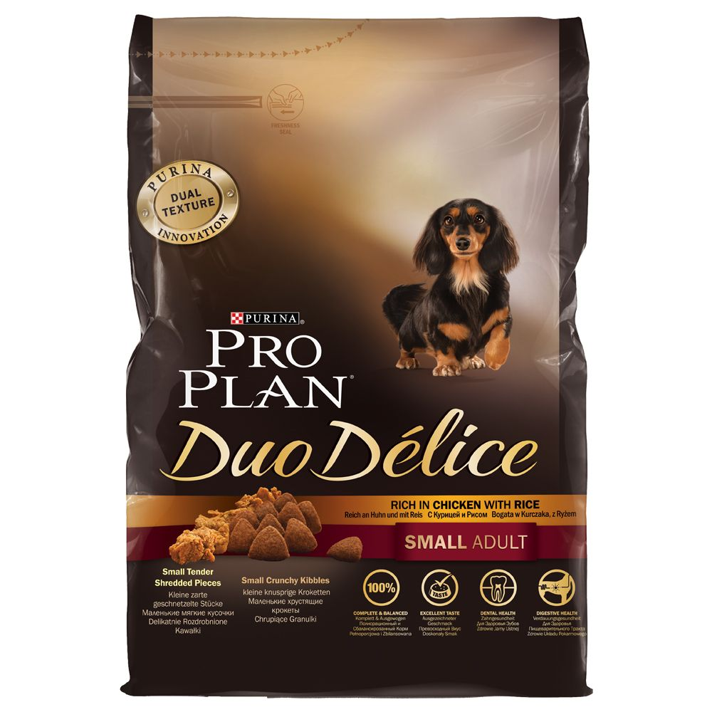 PRO PLAN Duo Delice Small Adult poulet - 3 x 2,5 kg