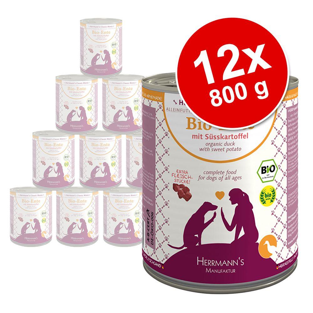 Ekonomipack: Herrmann's Meny spannmålsfritt 12 x 800 g - Blandpack 4 sorter