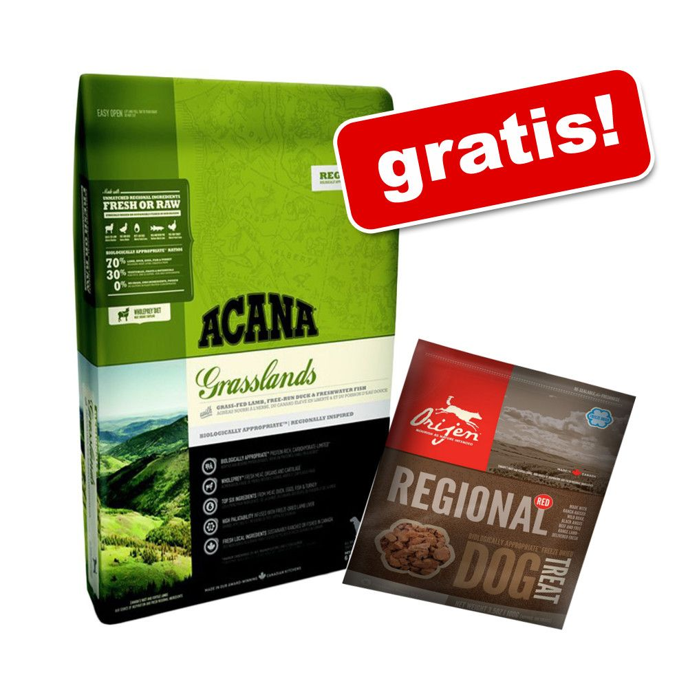 Duże opakowanie Acana + przysmak Orijen Regional Red, 42,5 g gratis! - Singles Pacific Pilchard, 11,4 kg