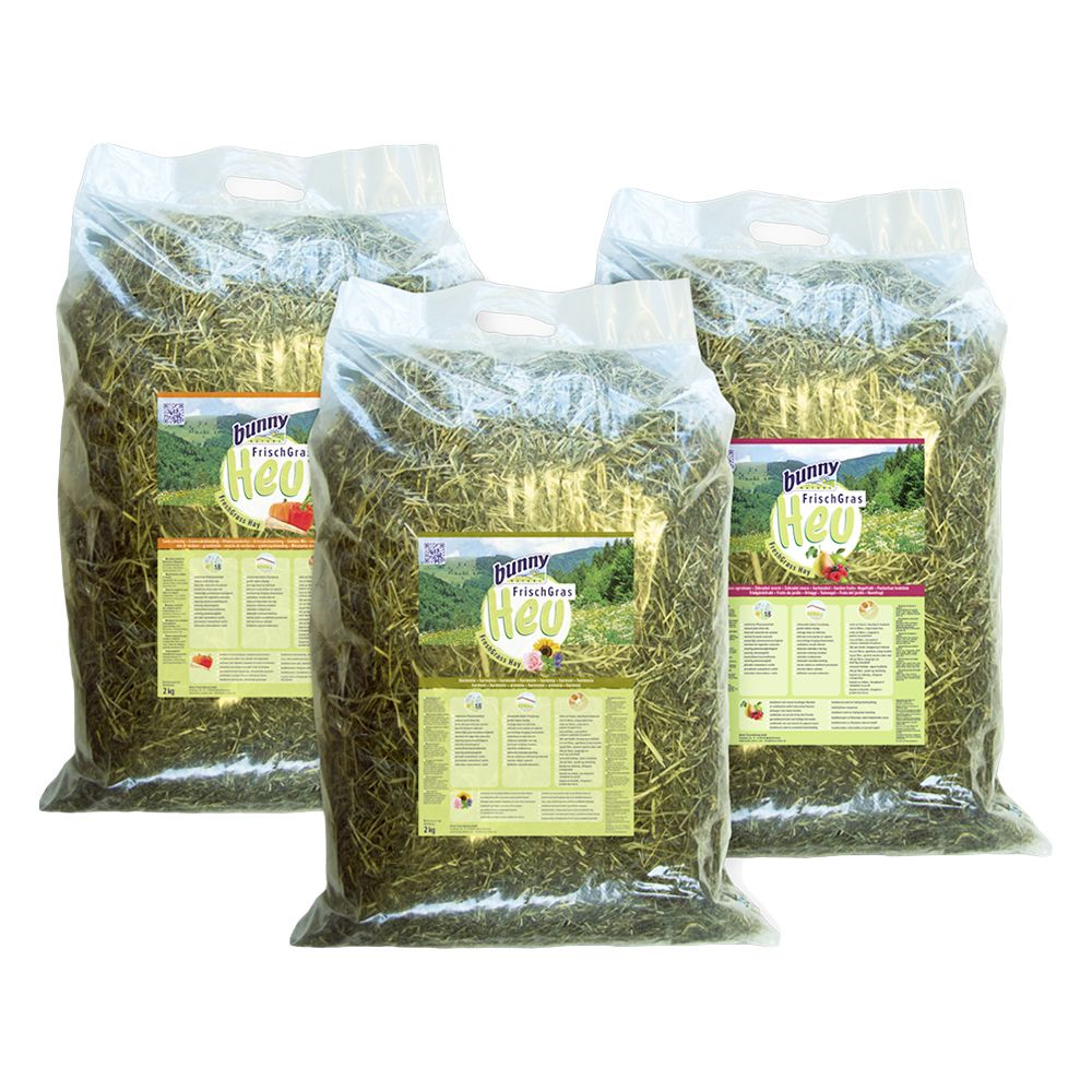 Bunny FreshGrass Hay Special Editions - Winter pack: 3 x 2kg