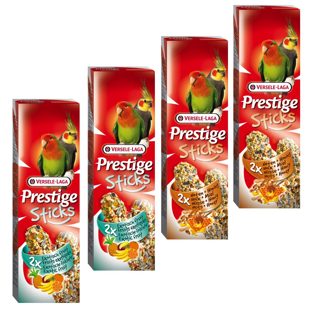 Prestige Sticks for Large Parakeets Mixed Pack - 4 x 2 Sticks (560g)