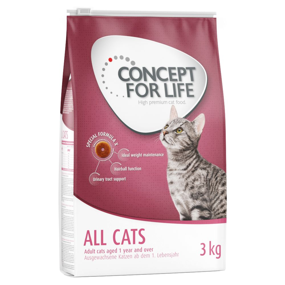 2.5kg Concept for Life Dry Cat Food + 500g Free!* - Indoor Cats (3kg)