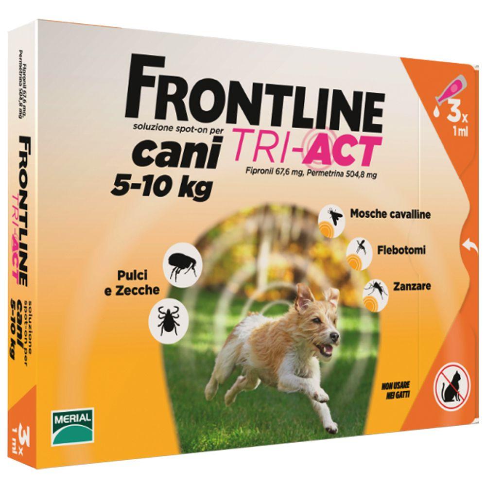 Foto Frontline Tri-Act soluzione spot-on per cani 5-10 kg - 2 x 3 pipette da 1 ml