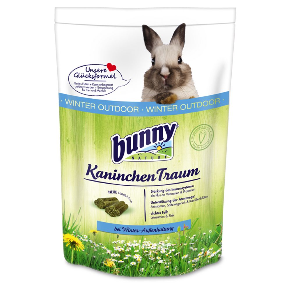 Foto BunnyTraum WINTER OUTDOOR per conigli nani - 2 x 4 kg - prezzo top!