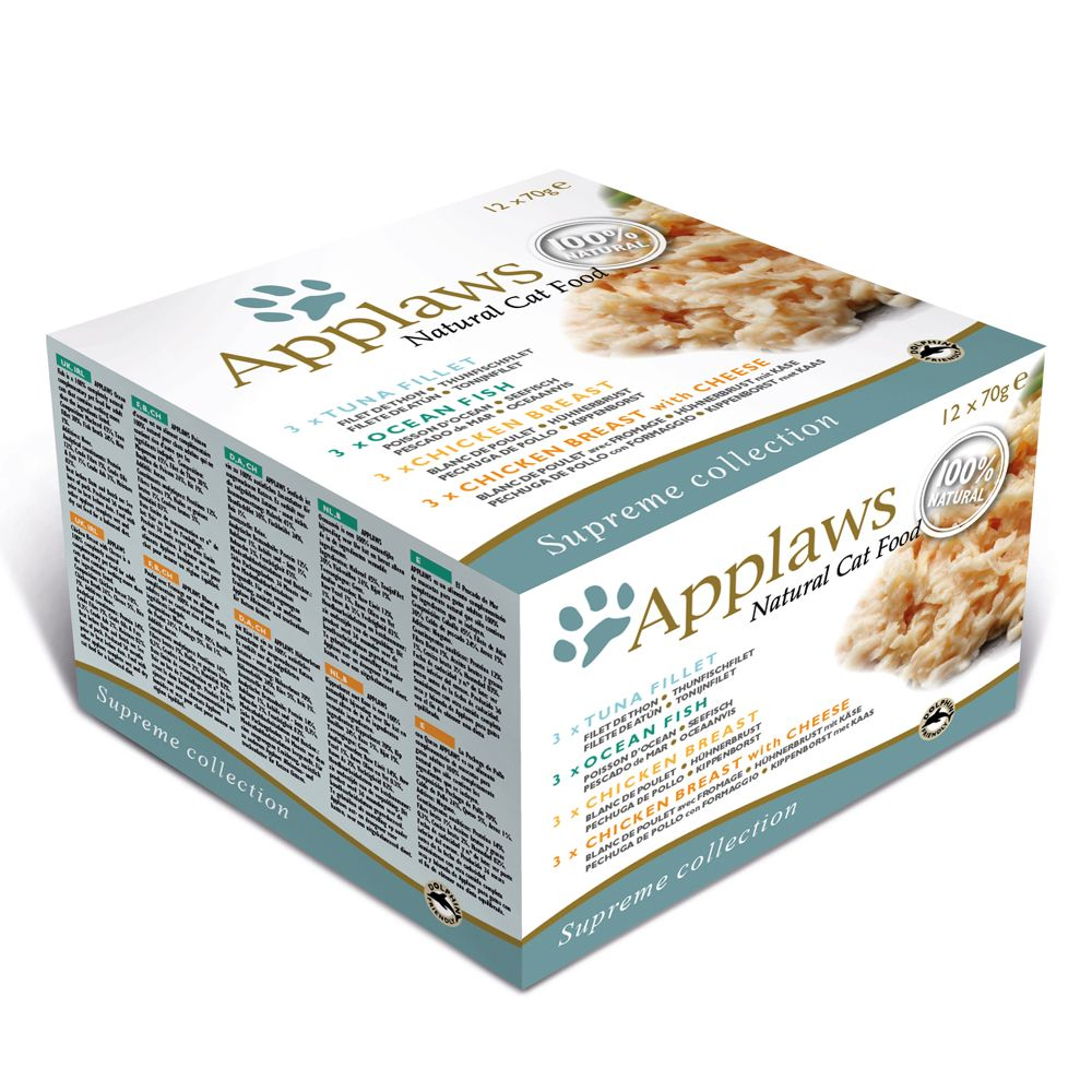 Applaws Cat Cans Mixed Multipacks 70g - Fish Collection 48 x 70g