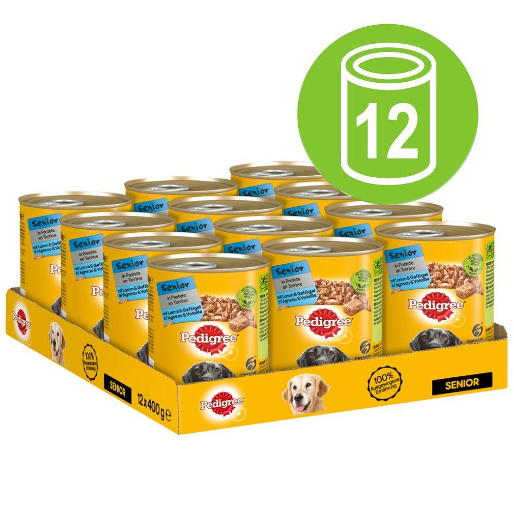 Pedigree Senior Classic Nassfutter für Hunde 12 x 400 g - Lamm & Geflügel