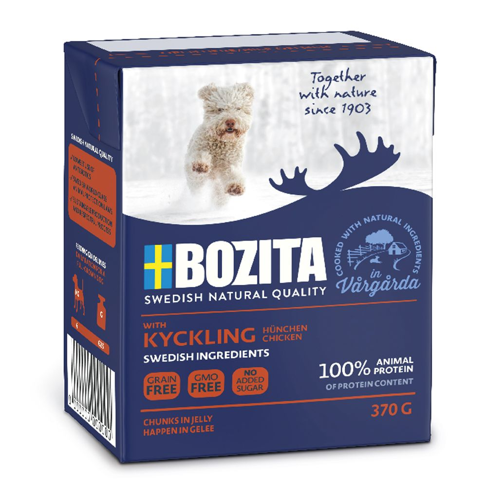 Reindeer Chunks in Jelly Bozita Naturals Wet Dog Food