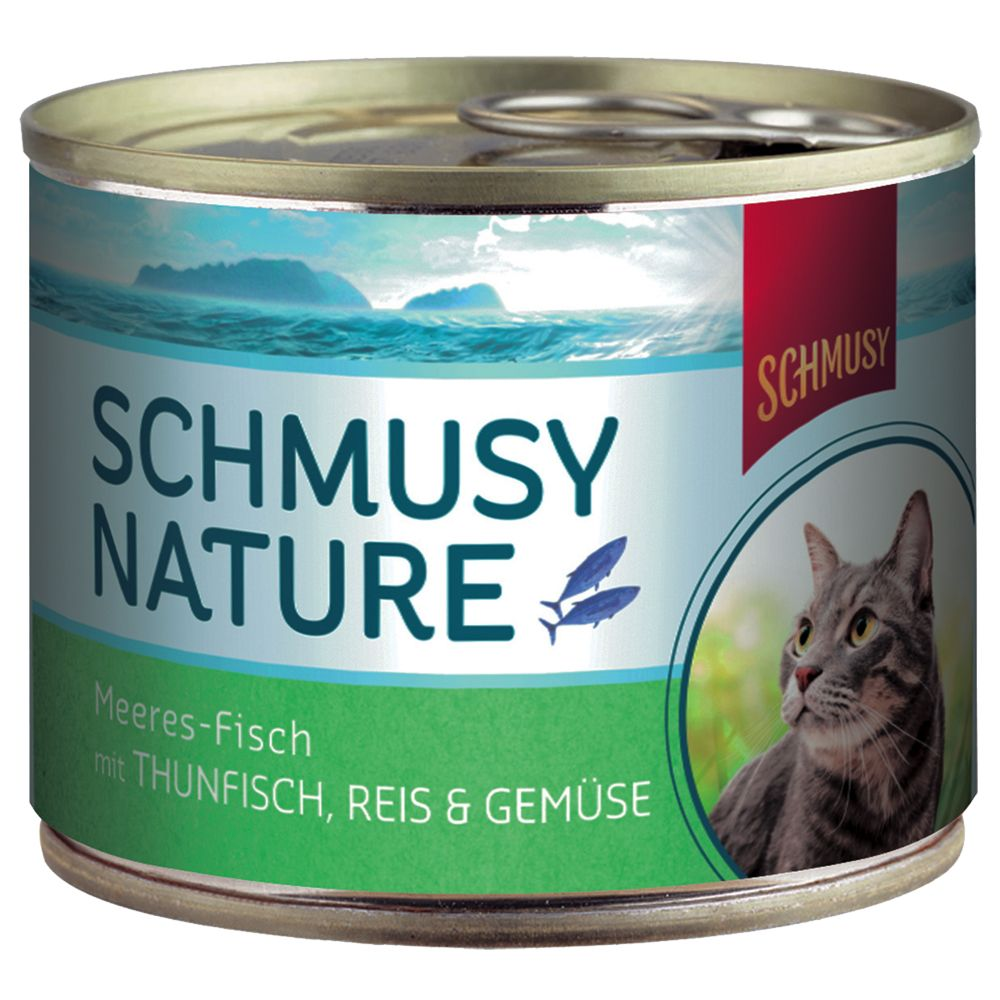 Schmusy Nature Ocean Fish Cans 12 x 185g - Pure Tuna