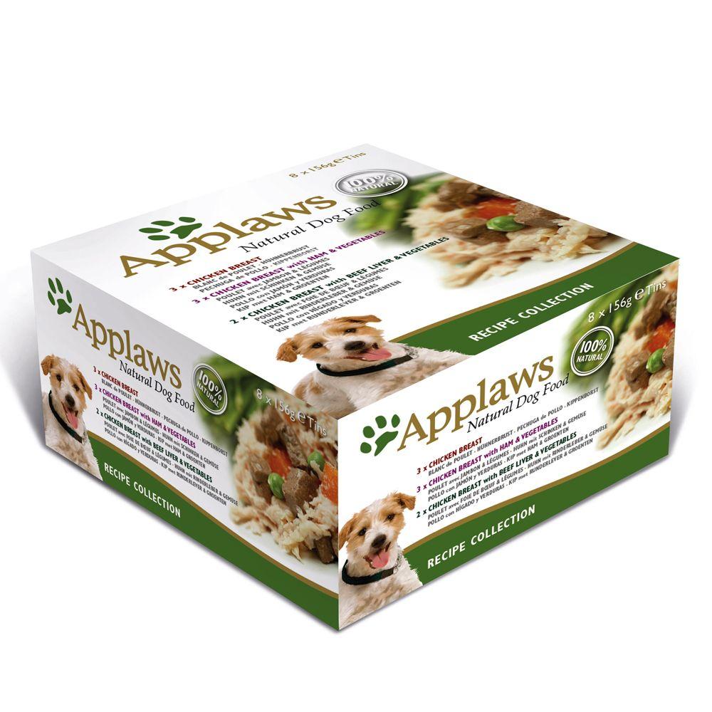 Applaws Hund Multi-Pack Dose - 8 x 156 g Huhnvariationen in Brühe