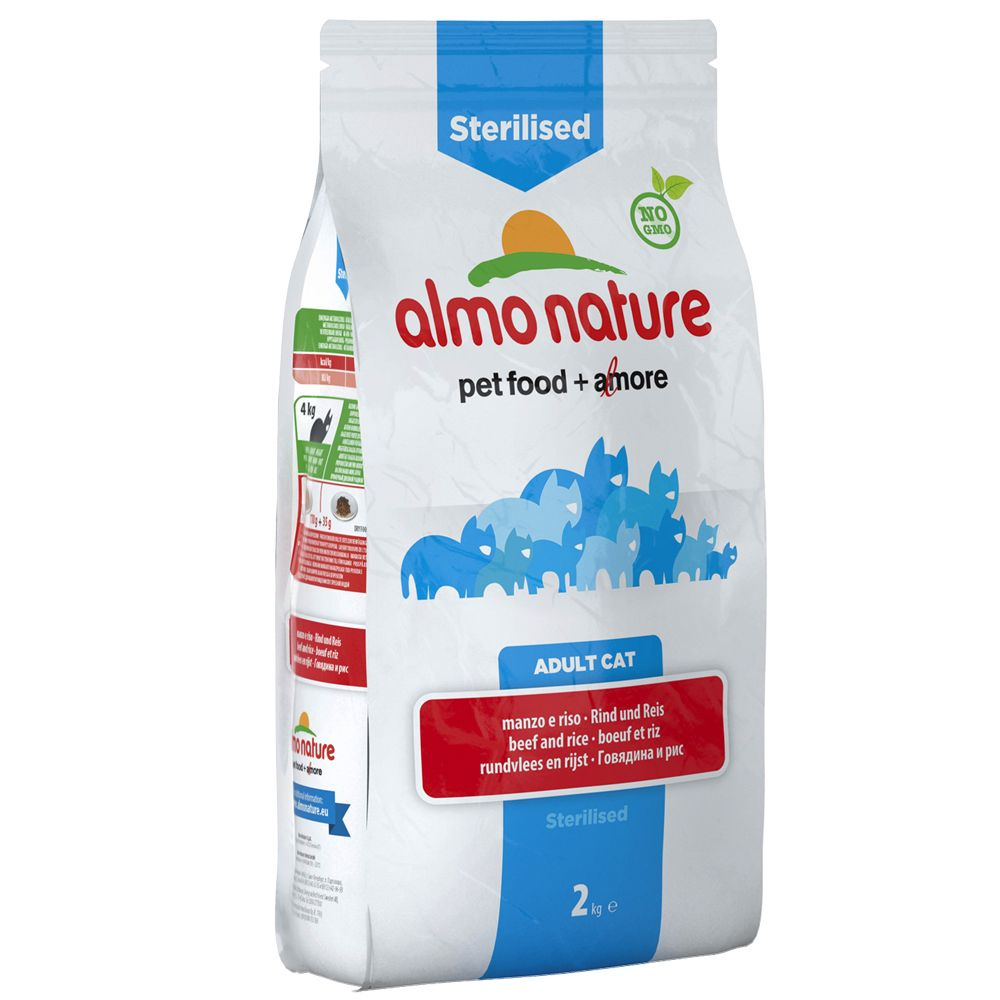 Foto Almo Nature Sterilised Manzo e Riso - % 2 x 2 kg Almo Nature Holistic Almo Nature Esigenze specifiche