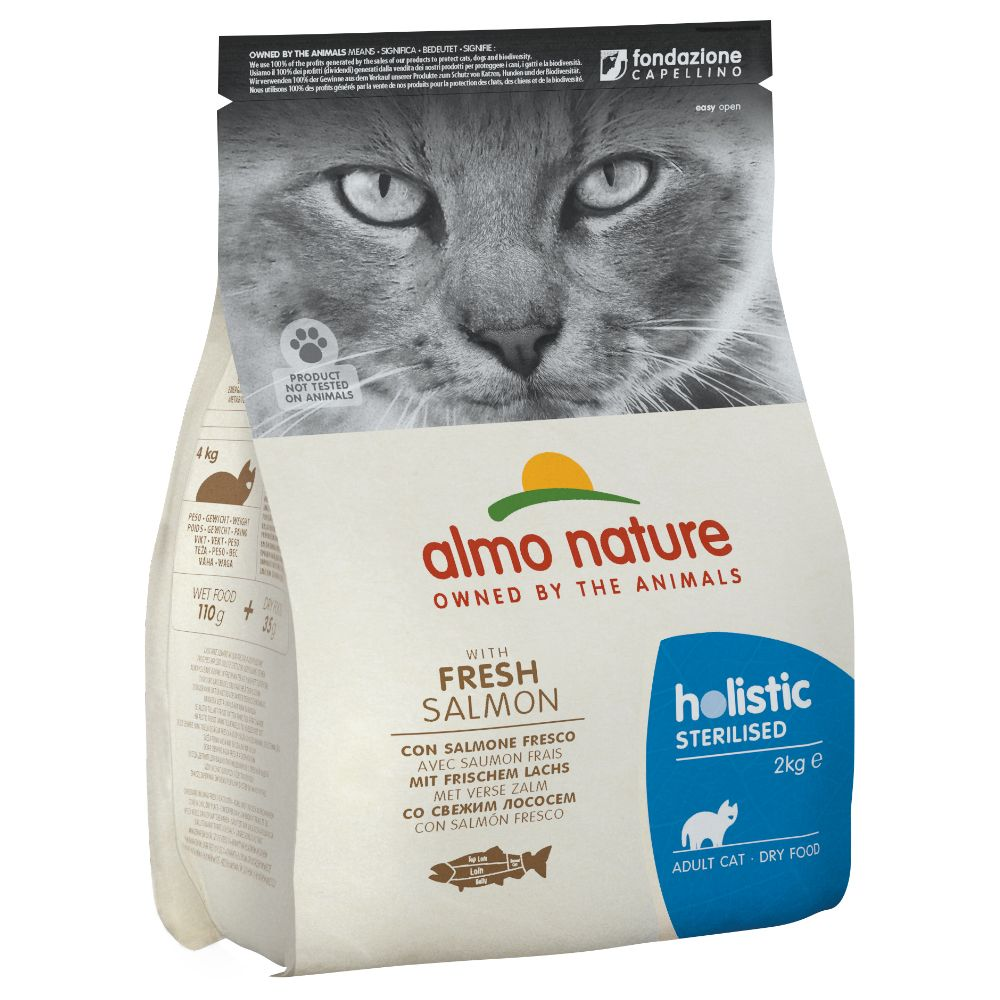 Almo Nature Holistic Sterilised Salmon & Rice - Ekonomipack: 2 x 2 kg
