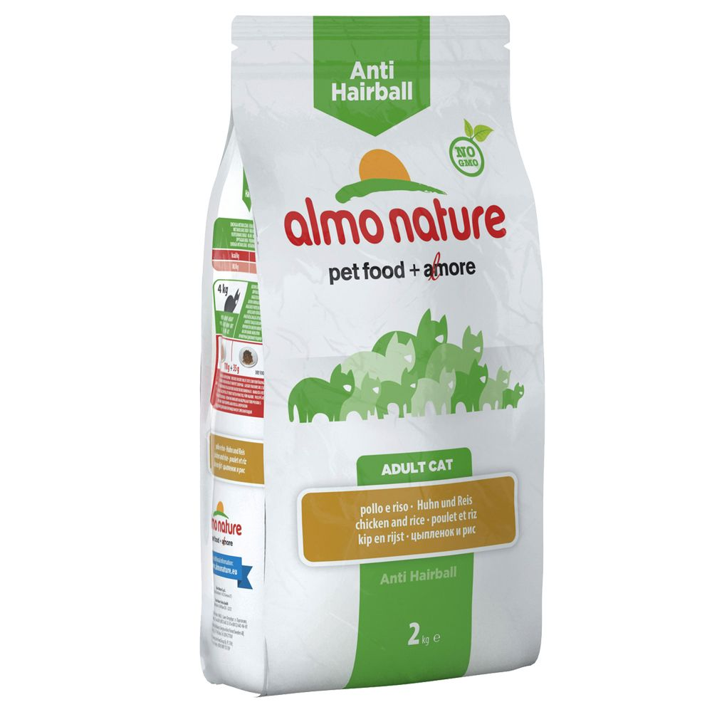 Almo Nature Anti Hairball, kurczak i ryż - 2 kg