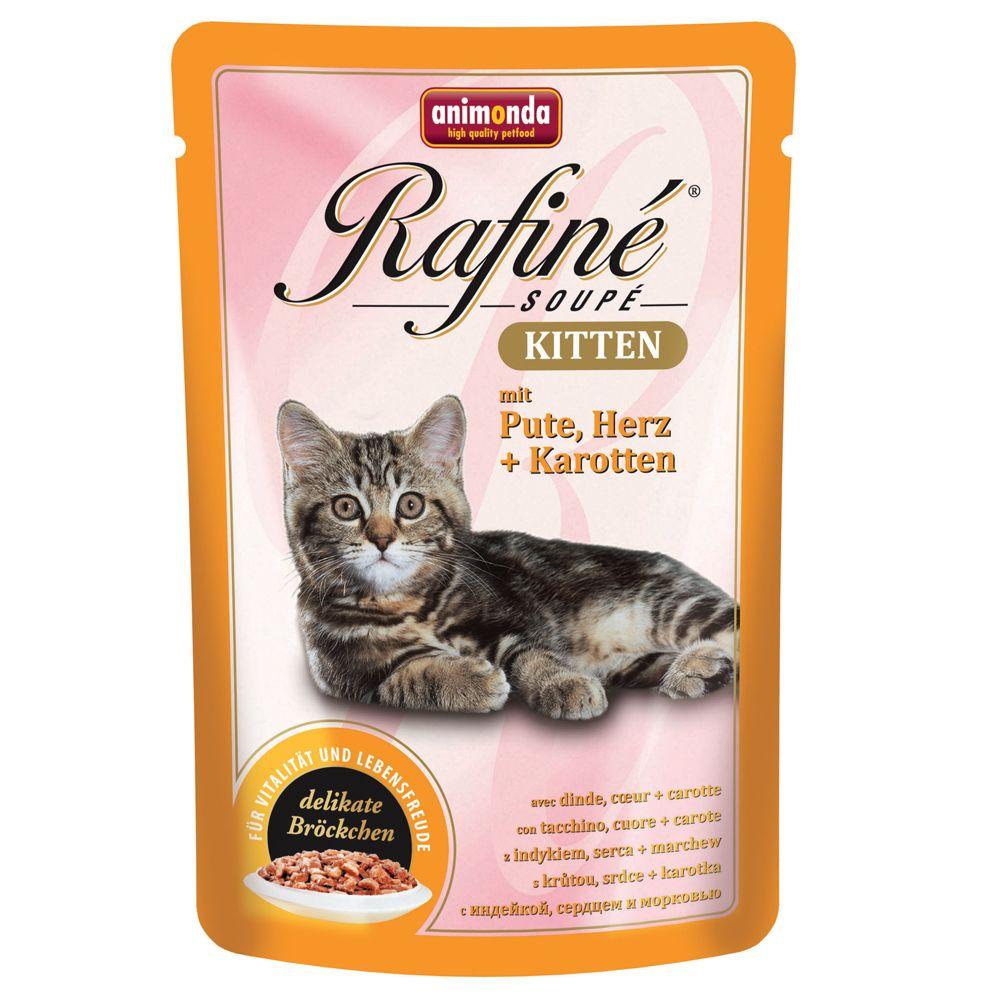 Megapack Animonda Rafiné Soupé 24 x 100 g - Kitten Pute, Herz & Karotten