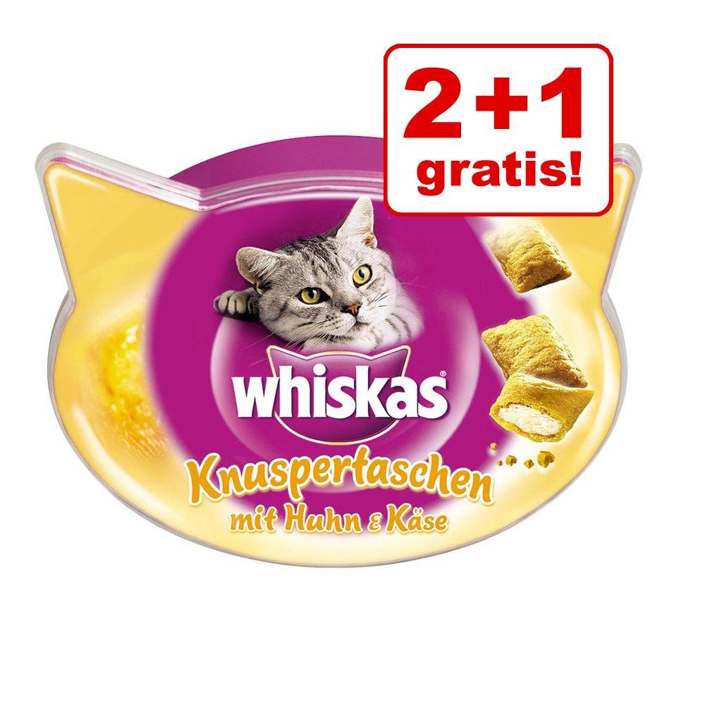 2 + 1 på köpet! 3 x Whiskas kattgodis! - Temptations Nötkött 3 x 72 g
