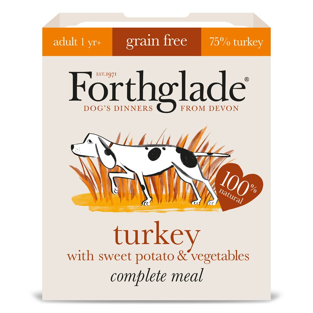 Forthglade Complete Meal Grain-Free Adult Turkey Wet Dog Food