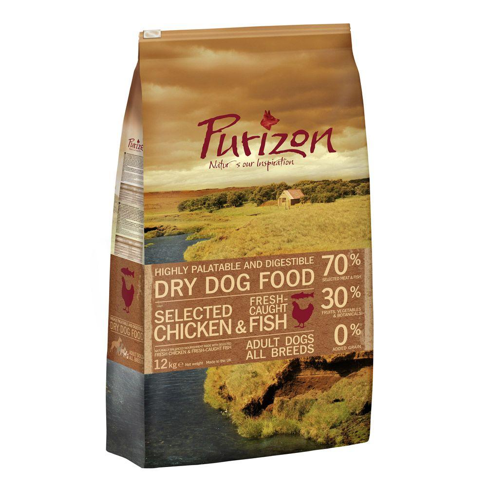 Purizon Adult Dog - Grain-Free Chicken & Fish - Economy Pack: 2 x 12kg