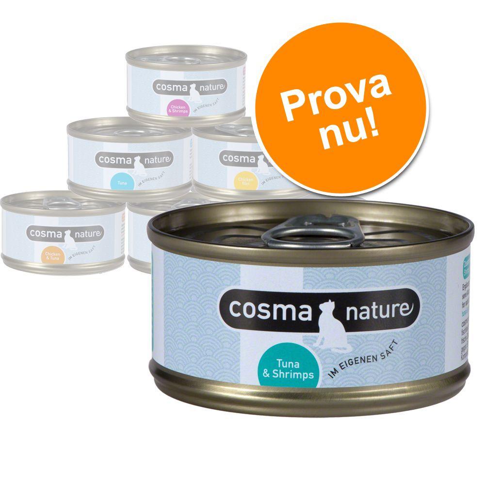 Cosma Nature blandat provpack – 6 x 140 g (6 sorter – blandpack 2)
