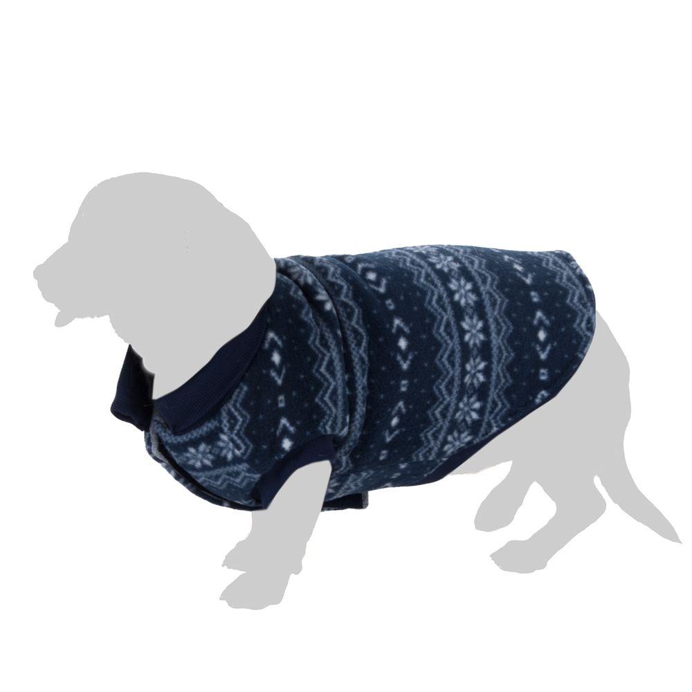 Pull-over Cristaux de glace pour chien - longueur du dos : 45 cm environ (taille XXL)