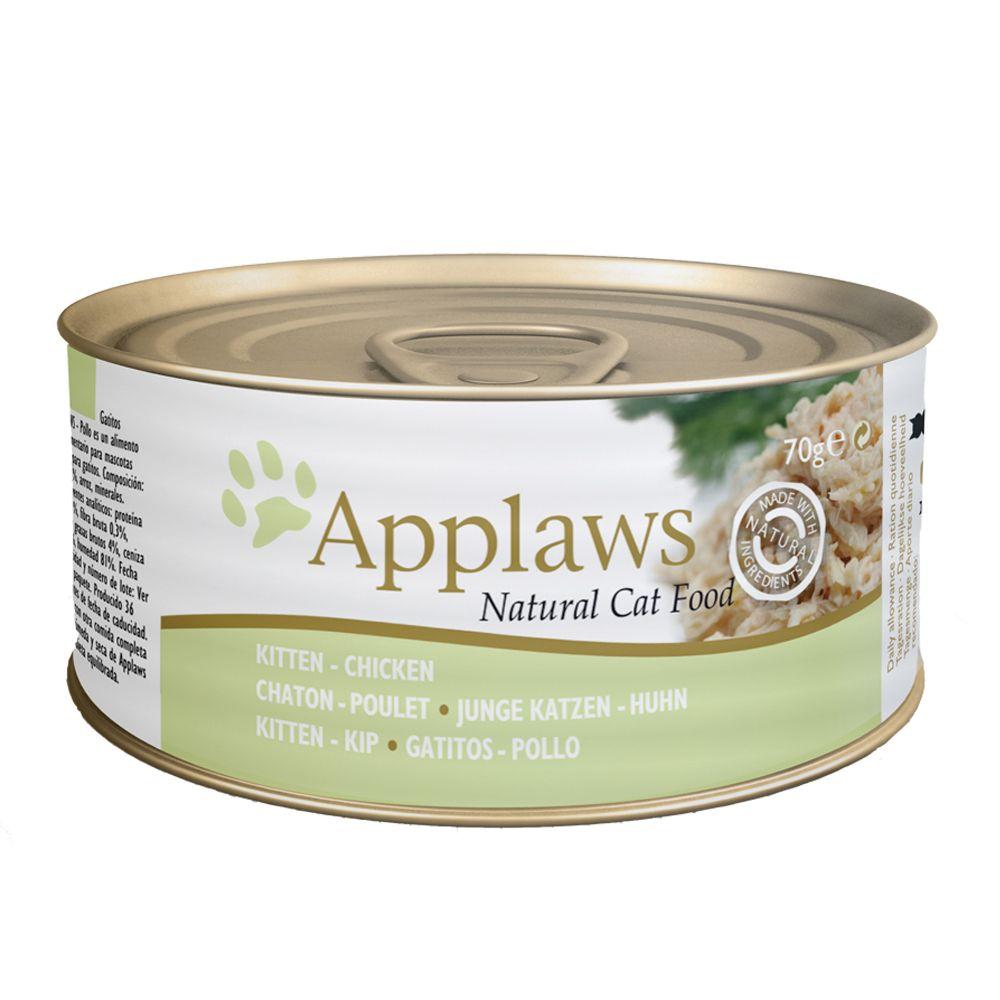 Applaws Katzenfutter Kitten 6 x 70 g - Mix Huhn