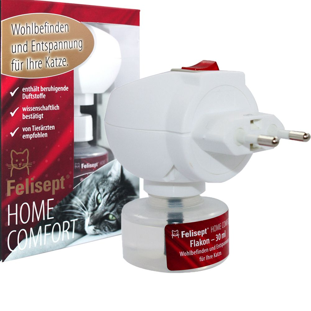 Felisept Home Comfort Set – lugnande medel för katter – Set med doftavgivare + flaska 30 ml