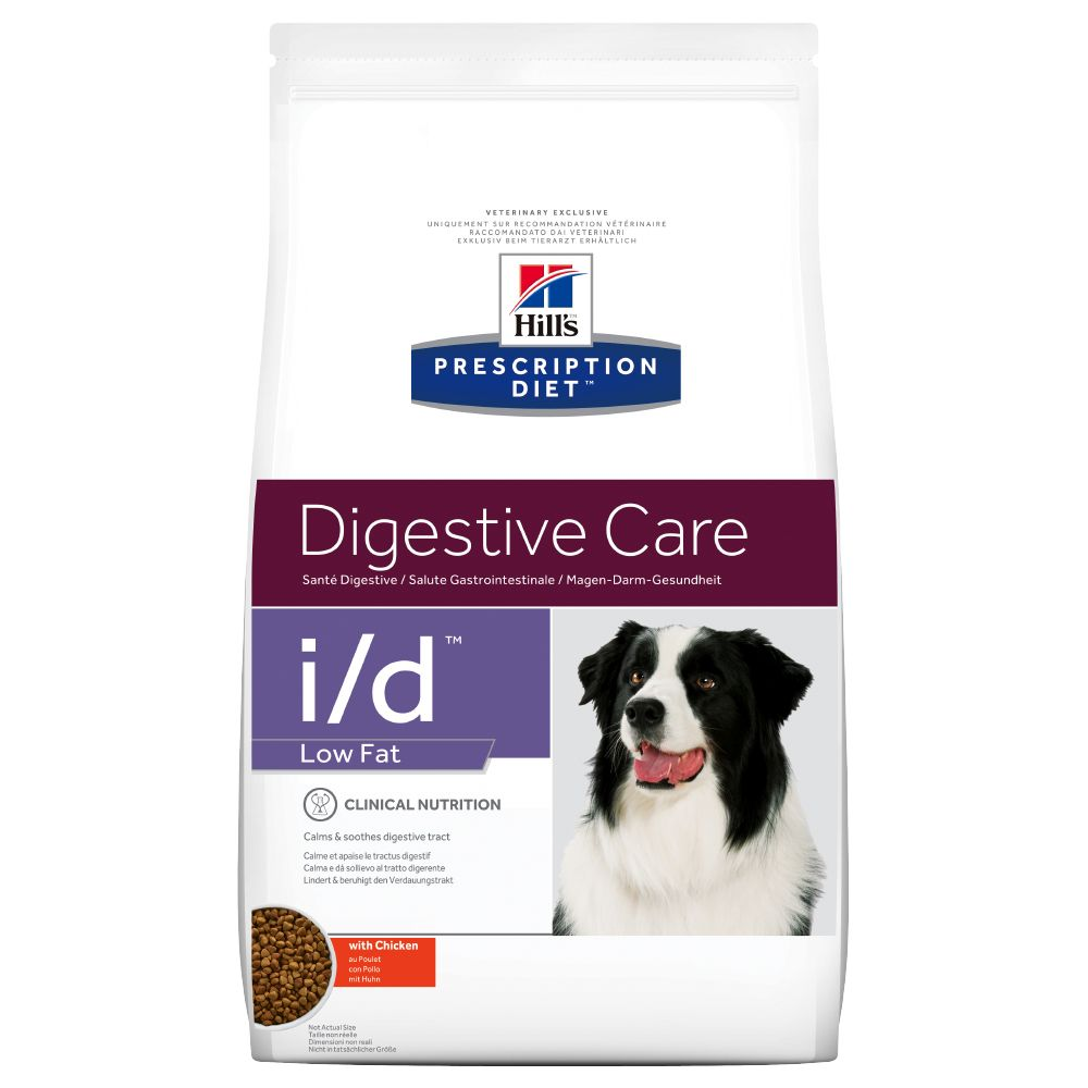 Hill's Prescription Diet Canine i/d Digestive Care Low Fat hundfoder med kyckling - Ekonomipack: 2 x 12 kg