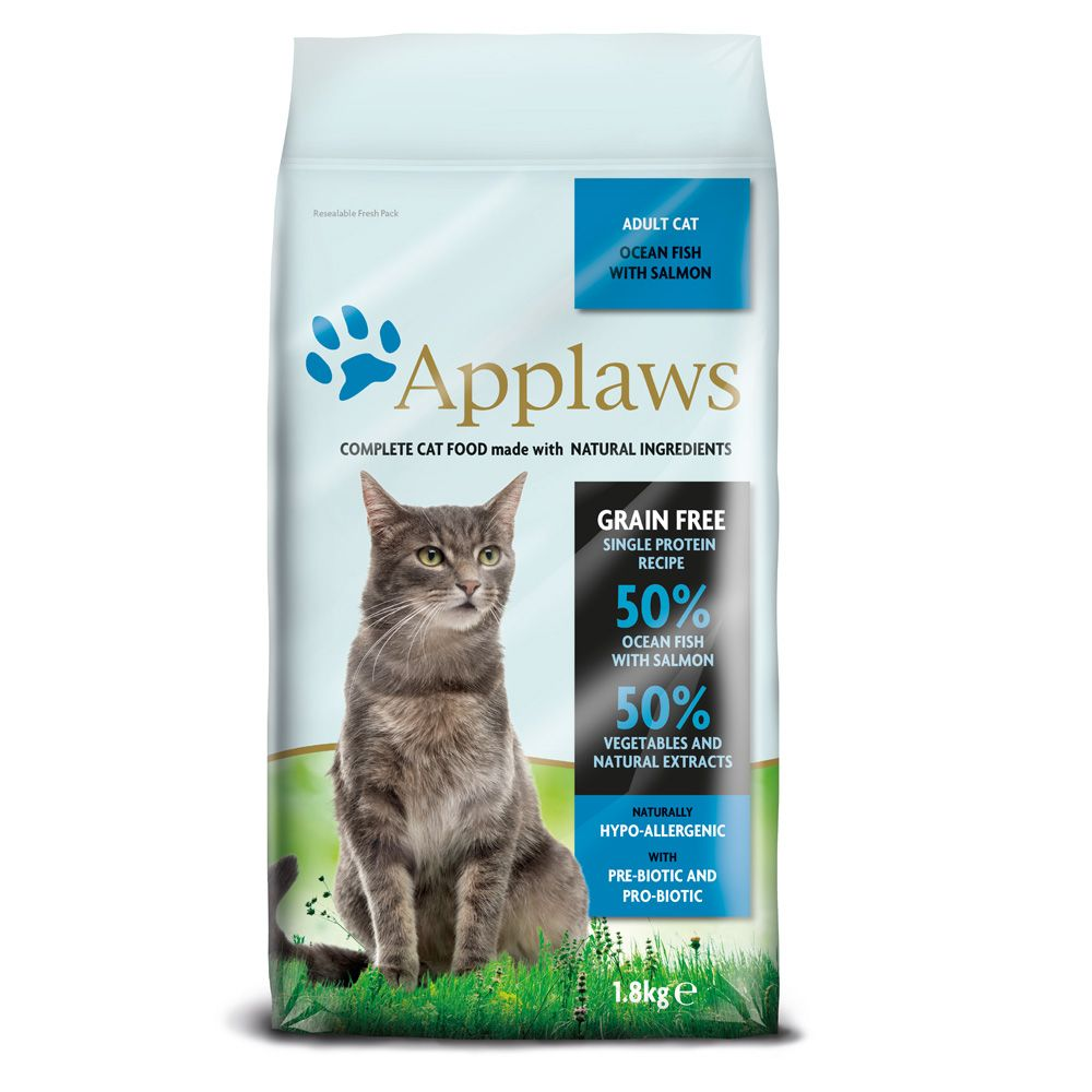 Applaws Adult Ocean Fish with Salmon Dry Cat Food - 1.8kg