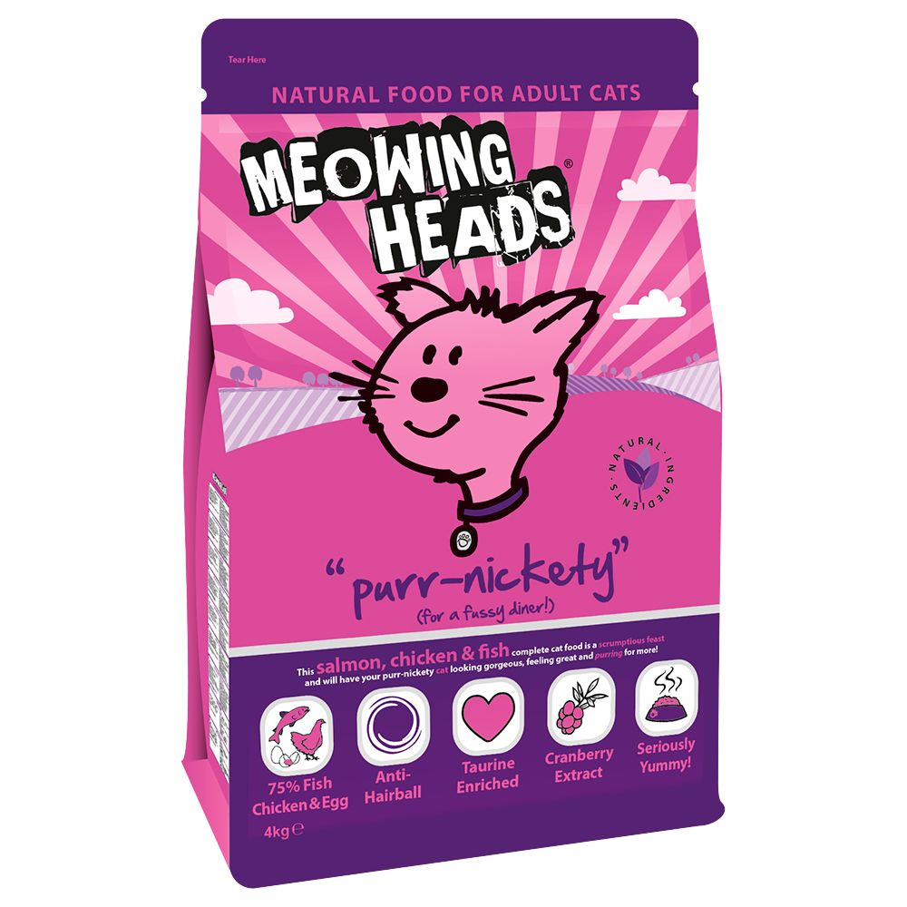 Meowing Heads Purr-Nickety Salmon & Chicken - Economy Pack: 2 x 4kg
