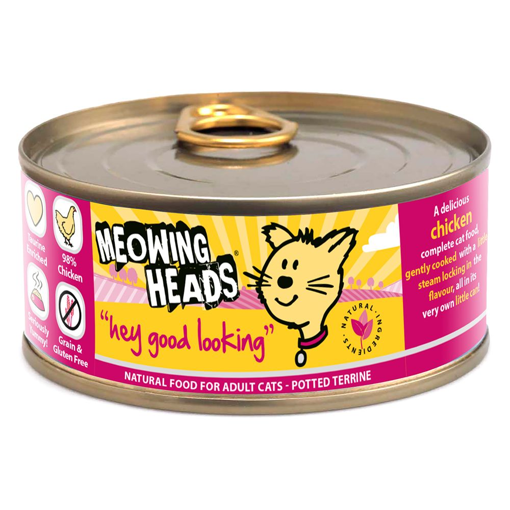 Meowing Heads Wet Cat Food Saver Packs 24 x 100g