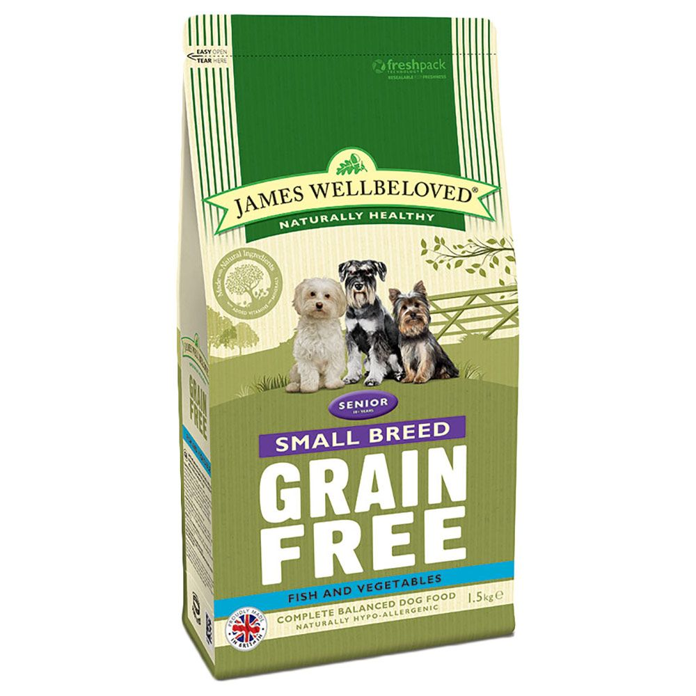 James Wellbeloved Senior Small Breed Grain Free - Fish & Veg - 1.5kg