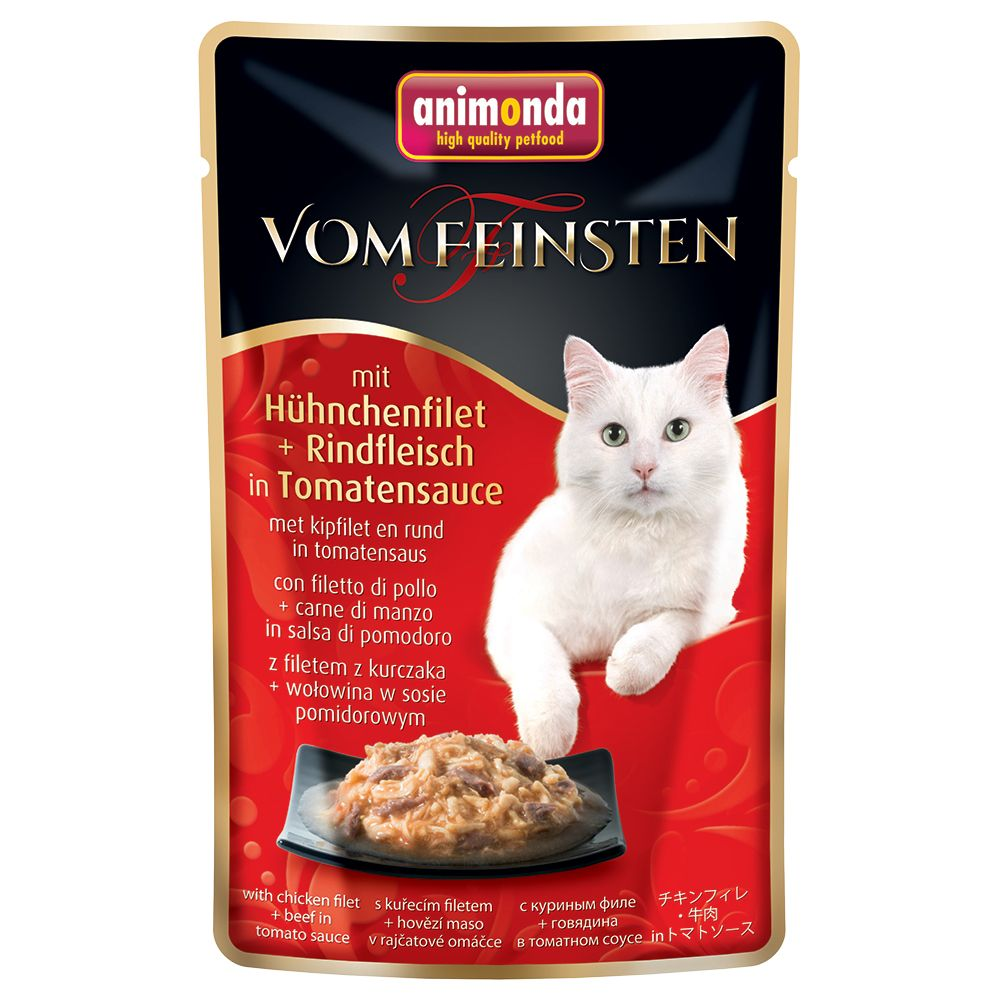 Animonda vom Feinsten Pouch 18 x 50g - Chicken Fillet & White Tuna in Sauce