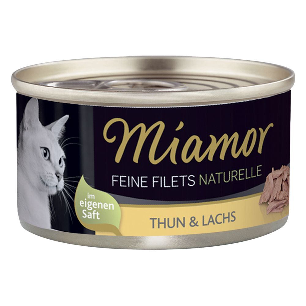 Miamor Fine Filets Naturelle 6 x 80 g - Tonfisk & lax