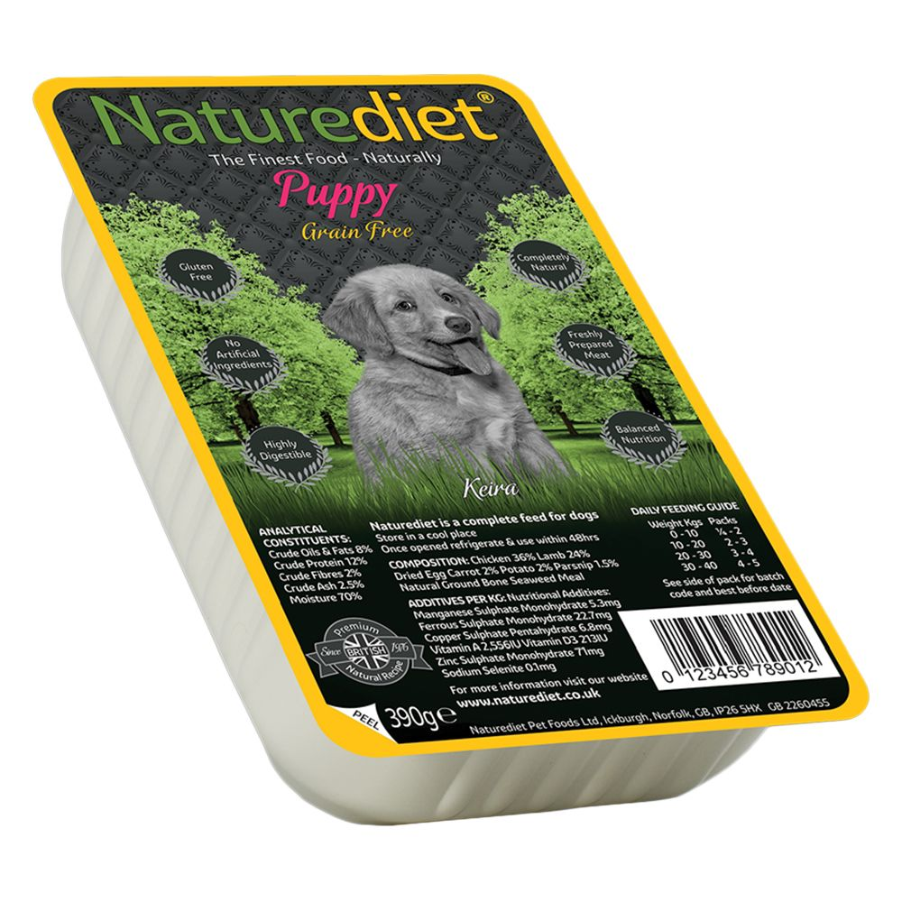 Naturediet Puppy - Grain Free Chicken & Lamb - 18 x 280g Twin Pack