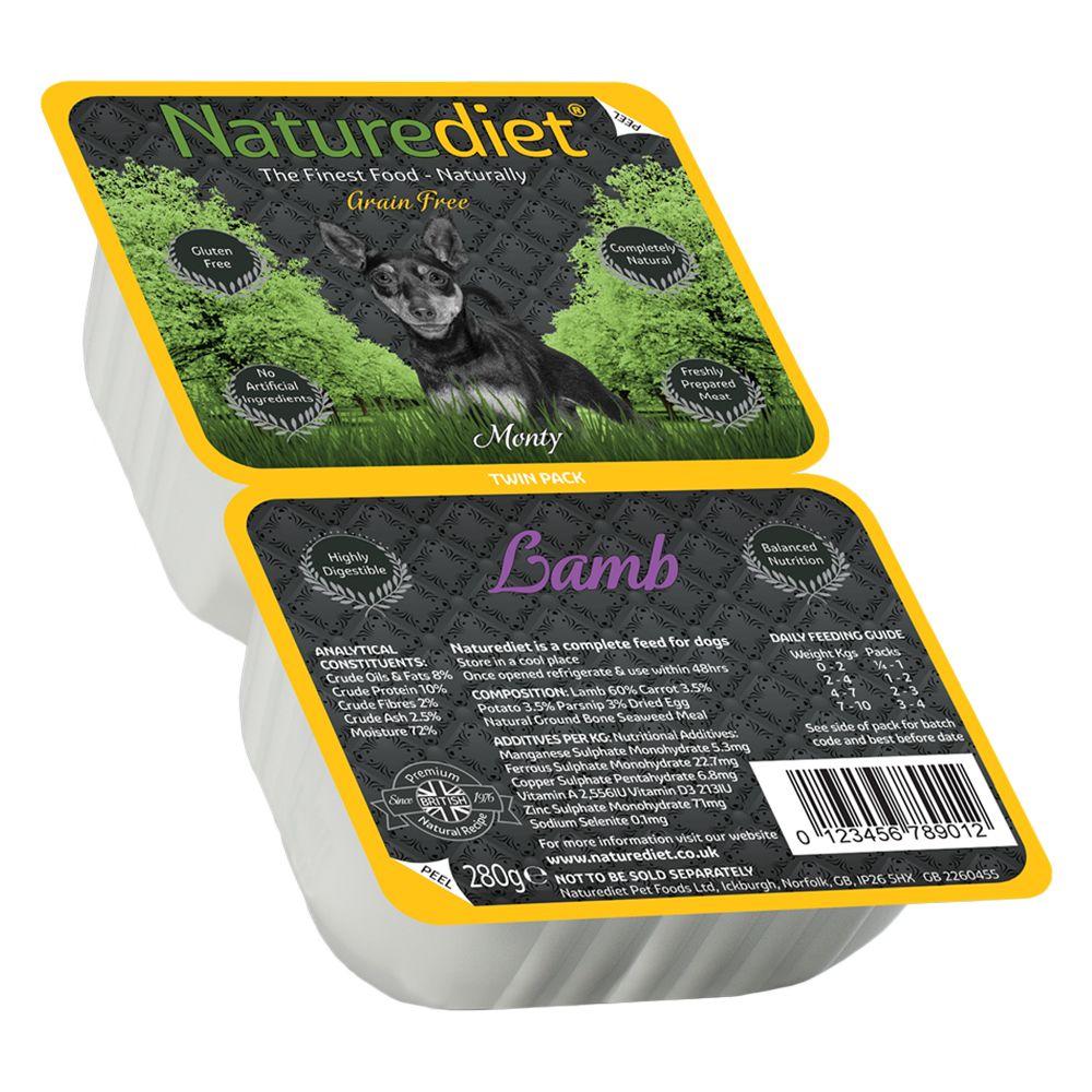 Image of Naturediet Grain Free Twin Pack - Agnello - 36 x (2 x 140 g) - prezzo top!
