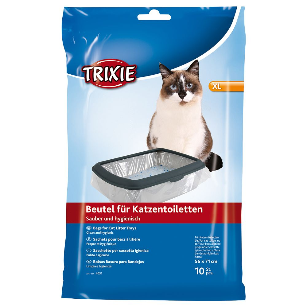 10 x XL Trixie Cat Litter Tray Bags