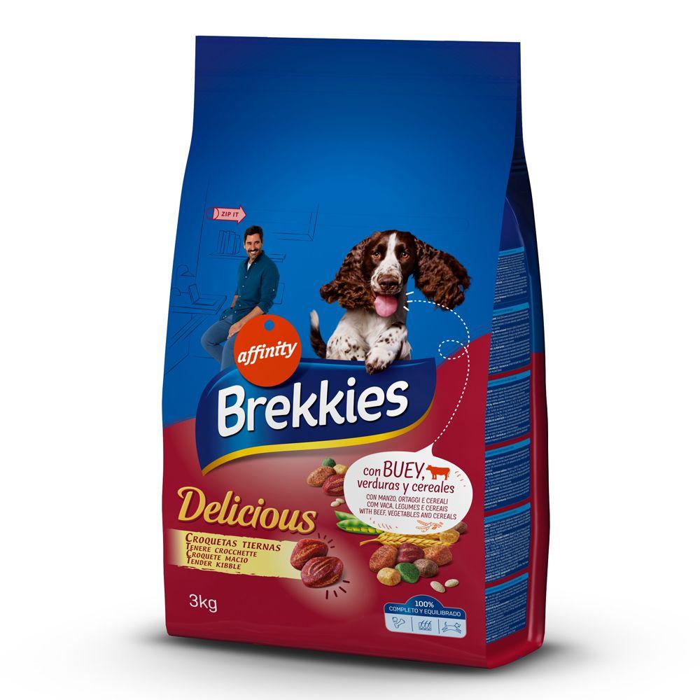 Brekkies Delicious Beef - Ekonomipack: 2 x 12 kg