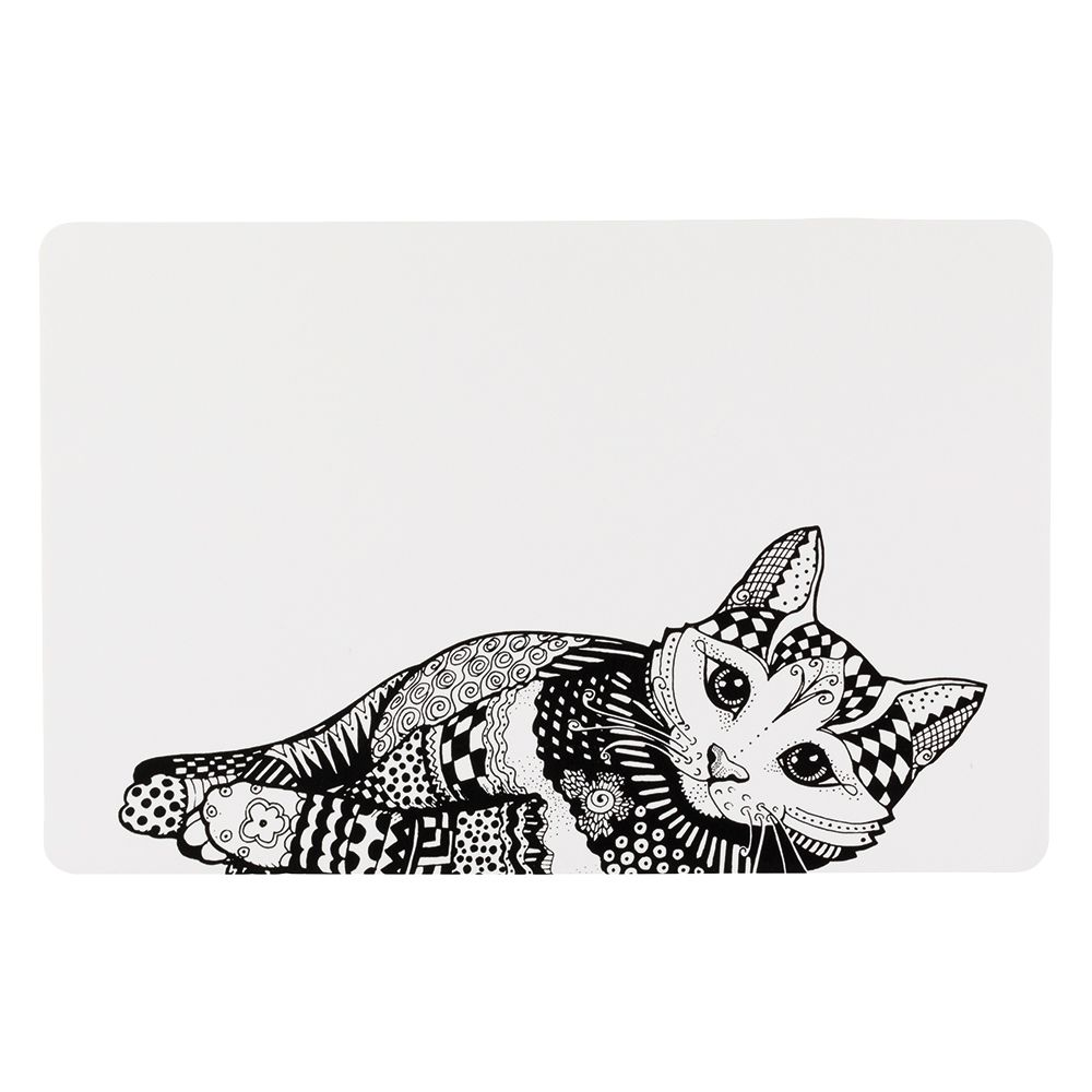 Trixie Zentangle Cat Placemat