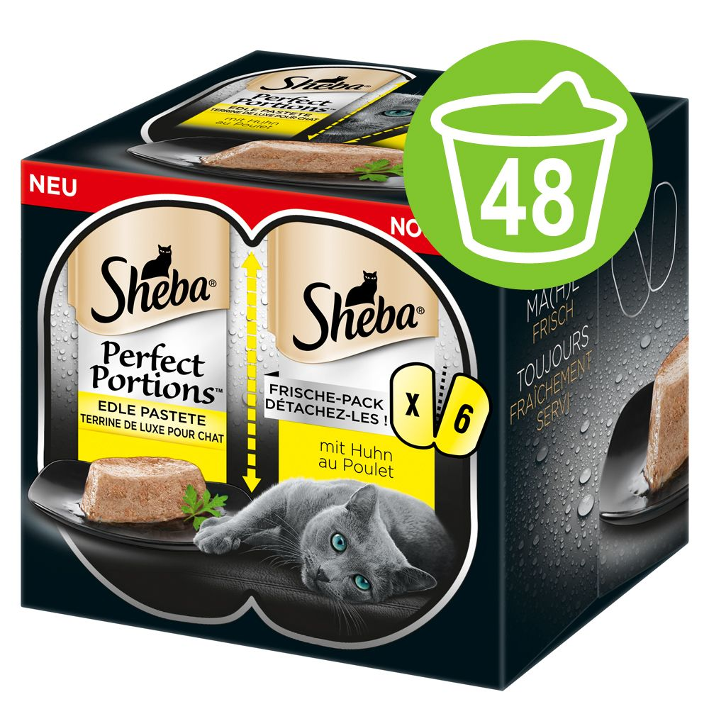 Ekonomipack: Sheba Perfect Portions 48 x 37,5 g - Nötkött