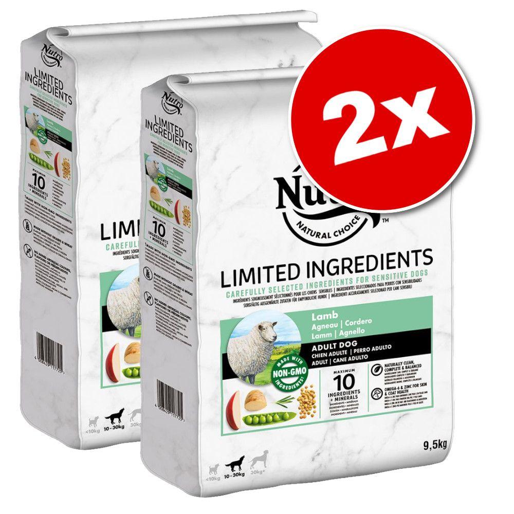 2x9,5kg Nutro Limited Ingredient Adult saumon - Croquettes pour chien