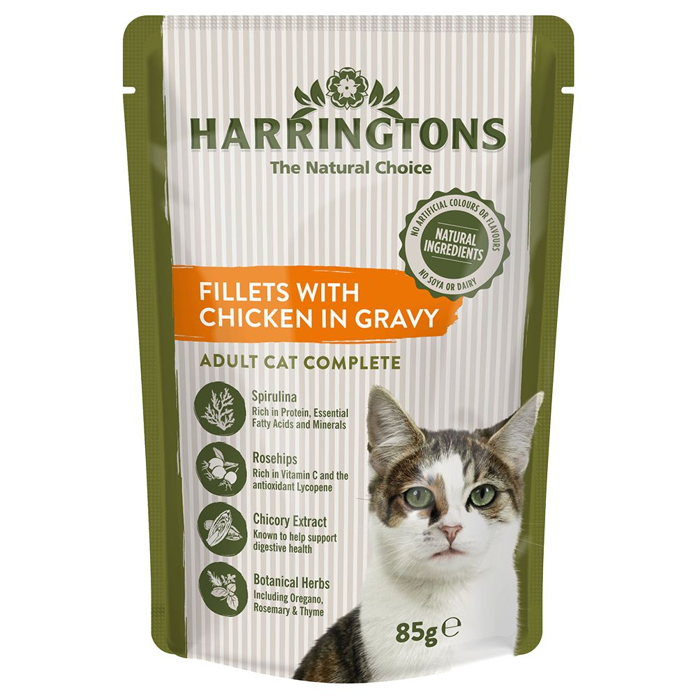 24 x 85g Harringtons Complete Adult Cat - Chicken in Gravy