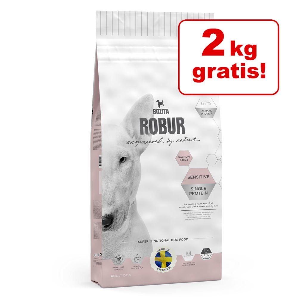2 kg gratis! GroßgebindeBozita Robur Hundefutter - Performance (12 kg)