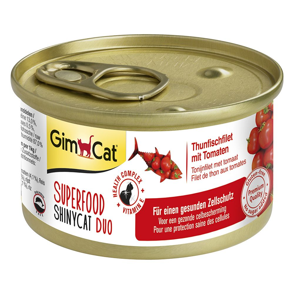 2 x 70g GimCat Superfood ShinyCat Duo