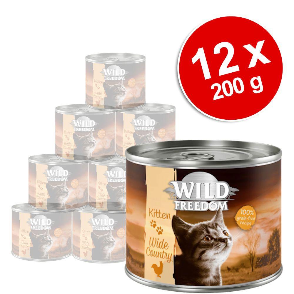 12x200g Kitten Golden Valley lapin, poulet Wild Freedom - Pâtée pour chaton