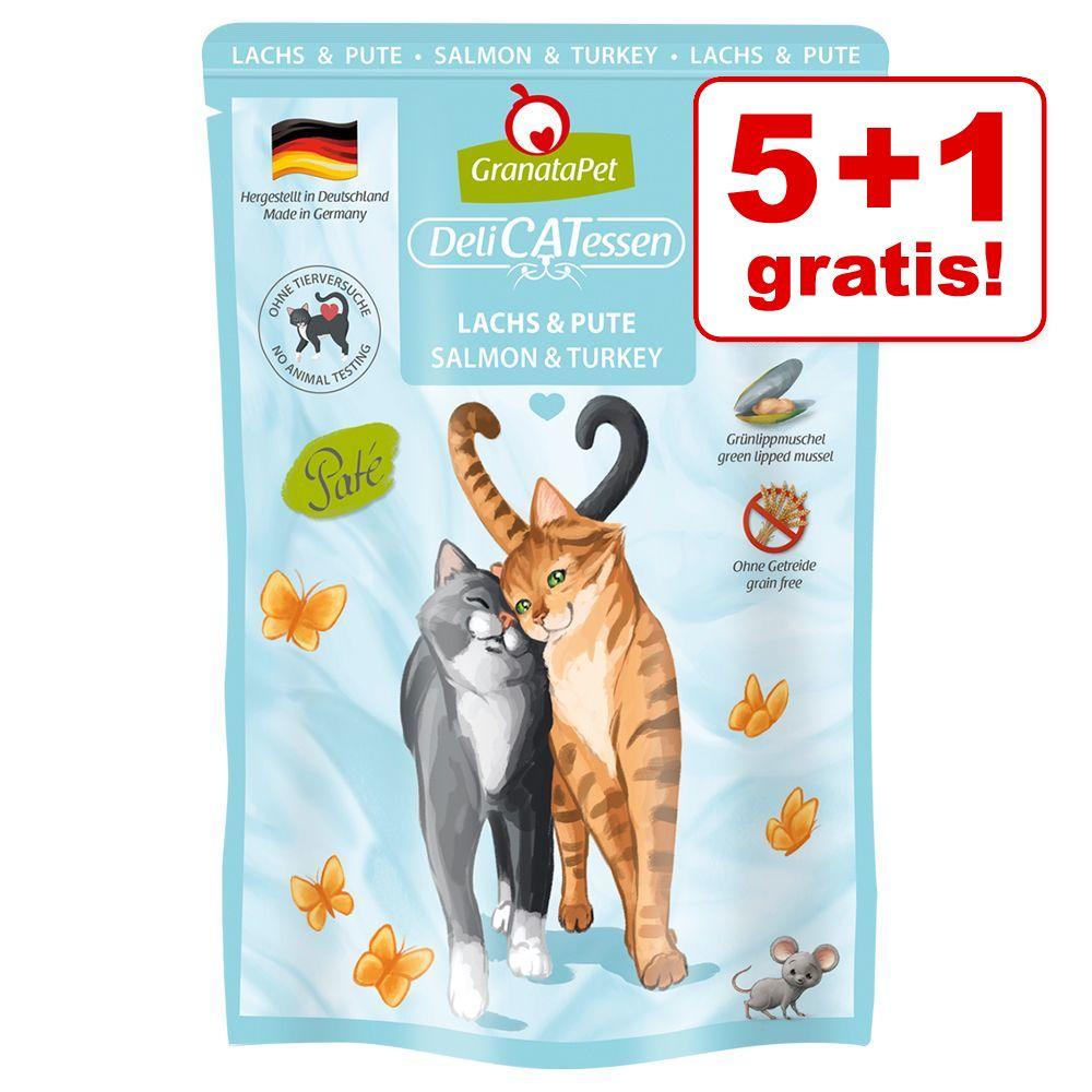 5 + 1 på köpet! 6 x 85 g GranataPet DeliCatessen Pouch Mix III (utan fisk)