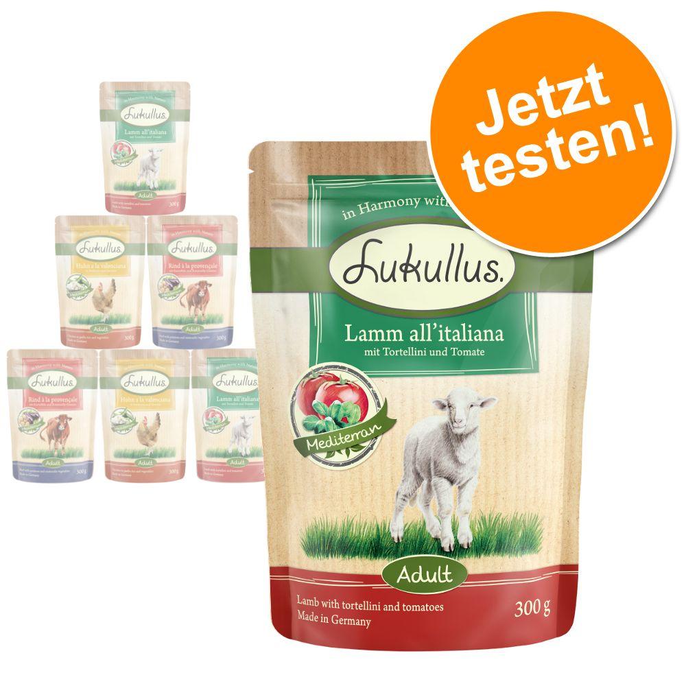 6 x 300 g Lukullus Naturkost Frischebeutel zum Probierpreis - Mix Mediterran